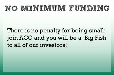 There is no minimum funding requirement.